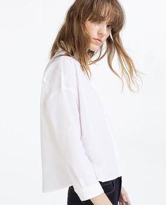 Image 4 of OVERSIZE SHIRT from Zara