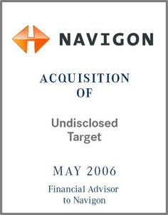 Navigon is one of the pioneers in the mobile and on board navigation space and was founded in 1991. Navigon has a strong presence in the app based mobile navigation market worldwide and is a market leader within Europe.