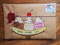 A gallery of mail-art created by me when I was just starting out. Mostly snail-mail envelopes on kraft paper, painted in gouache and watercolour. Envelope Lettering, Calligraphy Envelope, Envelope Art, Envelope Design, Envelope Addressing, Pen Pal Letters, Letter Art, Letter Writing, Snail Mail Pen Pals