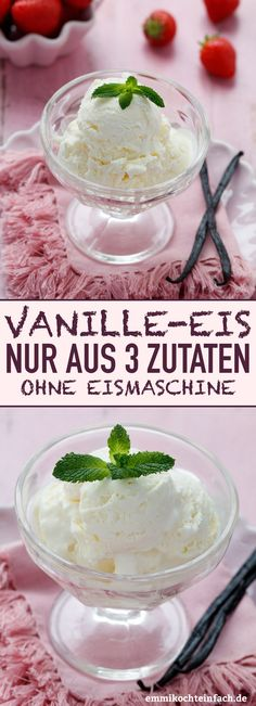 Vanilleeis ohne Eismaschine mit nur 3 Zutaten – emmikochteinfach Vanilla ice cream without ice cream maker with only 3 ingredients The simple and creamy recipe for all occasions. 10 minutes of preparation and 5 hours in the freezer – done. Easy Cheesecake Recipes, Easy Cookie Recipes, Healthy Dessert Recipes, Easy Desserts, Baby Food Recipes, Dessert Simple, Bon Dessert, Chocolate Cookie Recipes, Homemade Vanilla