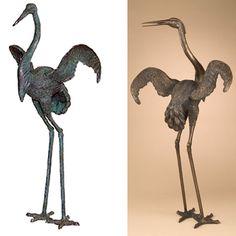 Bronze statues, bronze fountains bronze sculptures 30 % off.: Bronze Crane#BRZJ1035