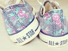 Floral Converse fashion flowers shoes converse style