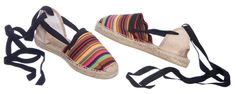 BERNARDO espadrilles for Men  A bohemian clan of troubadours, LOS BERNARDOS – BERNARDO, BERNARDA, and BERNARDI – scatter their romantically rebellious spirit wherever they wander.   Stripped cotton canvas upper hand stitched to jute espadrille platform with rubber coating on the bottom. Ankle tie laces.   Made in Spain.  Price :United States and non-EEC countries :$45.00 Countries within EEC (including VAT) :30.00 €