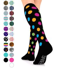 18ebdeced06e9 Go2 Fashion Compression Socks for Men & Women 15-20 mmHg Athletic Running  Socks for Nurses Travel Medical Graduated Nursing Compression Stocking  Sport Sock