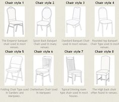 Chair Types used for your wedding