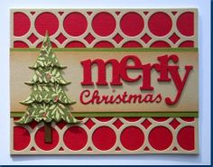 Taylored Expressions Trim the Tree die, Merry cut with the Silhouette, Christmas is an Elizabeth Craft Designs die, background is a PTI die.