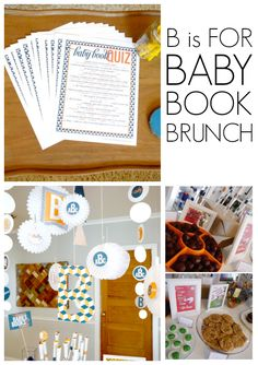 B is for baby, book, and brunch! A fun shower idea with a FREE printable book quiz :)