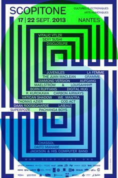 Affiche de l'édition 2013 du Festival Scopitone