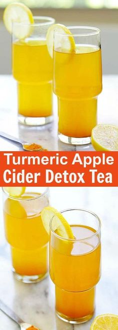 Turmeric and Apple Cider Vinegar Detox Tea – healthy detox tea made with turmeric, apple cider vinegar and honey. A beverage that you can drink daily | rasamalaysia.com