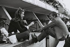 Nina and Jochen Rindt at the 1967 24hr of Le Mans