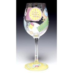 """Wine Glass """"New Mommy"""" Lolita by Lolita. $23.95. Wine Glass """"New Mommy"""" Lolita. New Mommy Wine Glass Discover the most unique wine glasses around! These wine glasses create instant conversation (over drinks of course!). Tracey Lolita Yancey uses wine cooler recipes as her design inspiration for each glass; each wine glass has a trademark 'recipe on the bottom'. Collect your favorite recipes or collect them all. Each glass comes boxed in its own hatbox, with form-f..."""