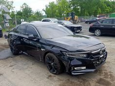 Salvage 2018 Honda Accord Touring Sedan For Sale Honda Accord Sport, Black Honda Accord, Honda Accord Custom, Honda Accord Touring, 2018 Honda Accord, Honda Dealership, Car For Teens, New Honda, Honda Civic Si
