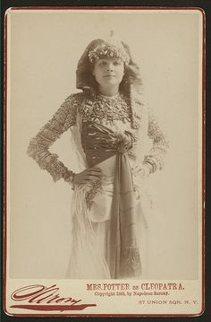 Cora Urquhart Potter as cleopatra in the 1889 production of Antony and Cleopatra by Shakespeare.