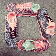 Nike Wmns Free TR Fit 3 PRT Leopard - Atomic Red and Slealth Pink #kickscrew #sneaker #sneakernews