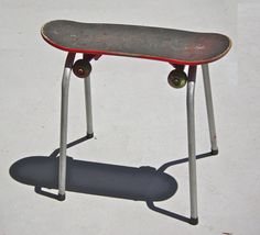 Mini Skateboard bench seat chair Stool,  via Etsy.  Cute for a kid's room