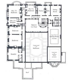 Cornelius Vanderbilt II Residence | 1 West 57th Street, New York City (on the Grand Army Plaza south). Second Floor plans as designed by George B. Post and Richard Morris Hunt featured primarily the private bedrooms and salons of Mr. & Mrs. Vanderbilt.