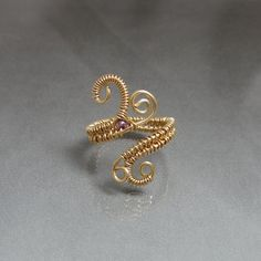 wire wrapped toe ring in copper mid knuckle or midi by studiodct, $18.00