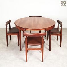 Sold to Seoul Korea: a Roundette Dining Suite by Hans Olsen. #19west #vintage #design #designclassic #mcm #20thcentury #midcentury #1950's #1960's #teak #danishdesign