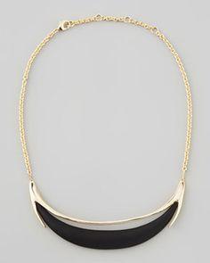Alexis Bittar Neo Boho Minimalist Crescent Lucite Necklace on shopstyle.com