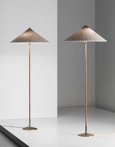 PAAVO TYNELL, Pair of standard lamps, model no. 6902, 1950s. Manufactured by Taito Oy, Finland.