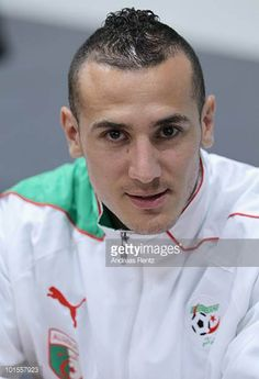 Hassan Yebda of Algeria looks on during a Puma press conference on June 2 2010 in Herzogenaurach Germany