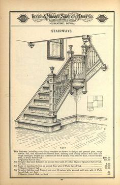 Twisted Handrails schody, które Erin sprzątała w obecności Michaela Entry Stairs, Grand Staircase, Victorian Interiors, Victorian Homes, Interior Staircase, Staircase Ideas, Farmhouse Stairs, Iowa, Craftsman Interior