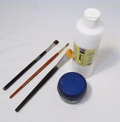Glazing polymer clay beads