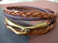 Leather Bracelet Mens Bracelet Womens by UrbanSurvivalGearUSA, $23.99