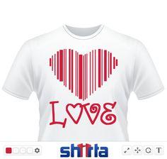 Barcode Herz mit dem Schriftzug LOVE für die liebe im Herzen