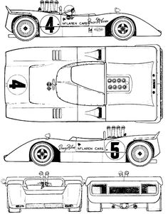 McLaren Can Am blueprints, vector drawings, clipart and pdf templates Slot Car Racing, Slot Cars, Race Cars, Racing Team, Auto Racing, Mclaren Cars, Mclaren P1, Vintage Sports Cars, British Sports Cars
