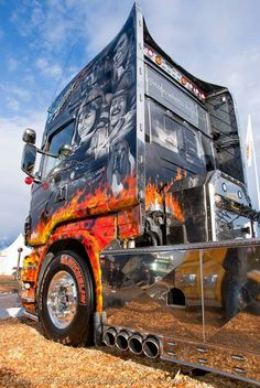 Tommy Nilsson Smokie and the Bandit Scania from Finland. Very nice work &…