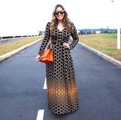 Lele Saddi maravilhosa de vestido longo GIG! Um arraso!! #gig #gigcouture #knitwear #winter2015 #SPFW #knitluxury #moda #tricô