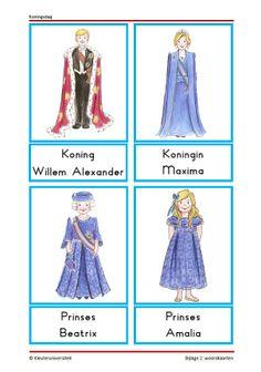 Grote woordkaart van het koninklijk huis Dutch Language, Kings Day, Family Theme, School Themes, Queen Maxima, Diy For Kids, Elementary Schools, Creative, Projects