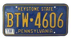 PKW-Kennzeichen Pennsylvania