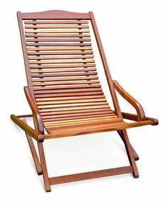 Eucalyptus Outdoor Reclining Lounge Chair