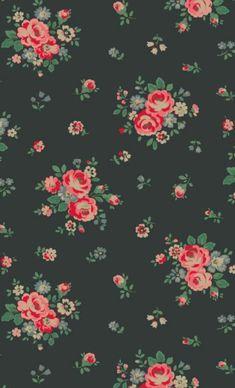 Papier Peint Vintage 60s Floral Wallpaper Design 1