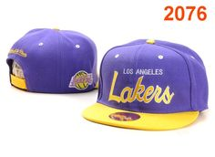 Los Angeles Lakers Snapback Hat Blue Yellow $8.99