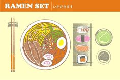 RAMEN SET by arace on @creativemarket