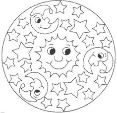 Space mandala coloring page for kids | Crafts and Worksheets for ...