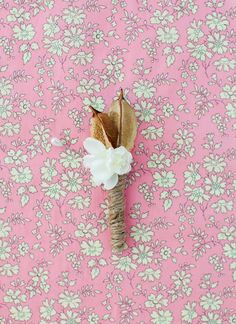cotton pod boutonniere