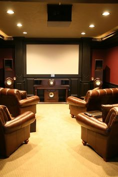 Home theater room at Cameo Heights Mansion, Touchet, WA. #movietime #stayselect Photo: @Mike Tucker Shubic