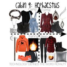 Cabin 9: Hephaestus Plaid for Formal huh? I thought the Hermes kids were the rebels. That or the Nemesis ones.