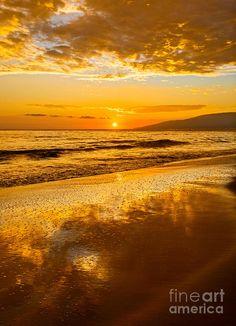 Sunset On Lahaina, Maui