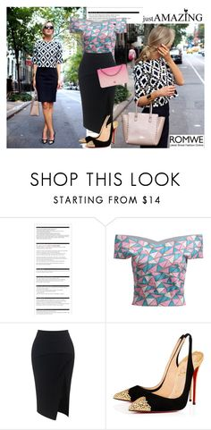 """""""Romwe Top"""" by dinna-mehic ❤ liked on Polyvore featuring Arche, Maticevski, Christian Louboutin, Chanel and romwe"""
