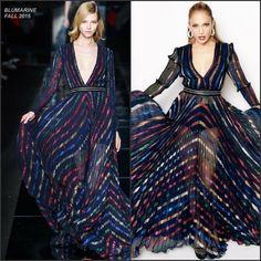 Jennifer Lopez, splendente, in un meraviglioso abito della collezione BLUMARINE FALL 2015 #lBlumarine #abitieleganti #abiti