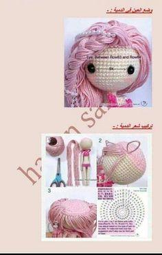 Mesmerizing Crochet an Amigurumi Rabbit Ideas. Lovely Crochet an Amigurumi Rabbit Ideas. Crochet Doll Tutorial, Crochet Doll Pattern, Crochet Patterns Amigurumi, Amigurumi Doll, Knitted Dolls, Crochet Dolls, Crochet Mermaid, Crochet For Boys, Doll Hair