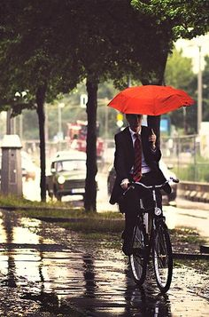 rain means we need protection.  Got an Umbrella? Here is a rainy day in Berlin, Germany