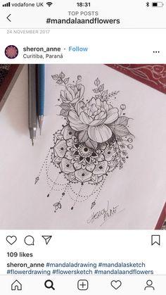 (notitle) - Tattoos - Tattoo Designs for Women Bff Tattoos, Future Tattoos, Body Art Tattoos, Sleeve Tattoos, Mandala Tattoo Design, Mandala Flower Tattoos, Flower Tattoo Shoulder, Shoulder Tattoos, Maching Tattoos