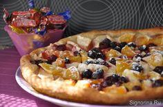 Фруктовая пицца с апельсинами и яблоками: постный рецепт