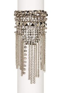 platinum-finds ~ Products ~ Free Press Wide Mesh Stone Fringe Cuff ~ Shopify